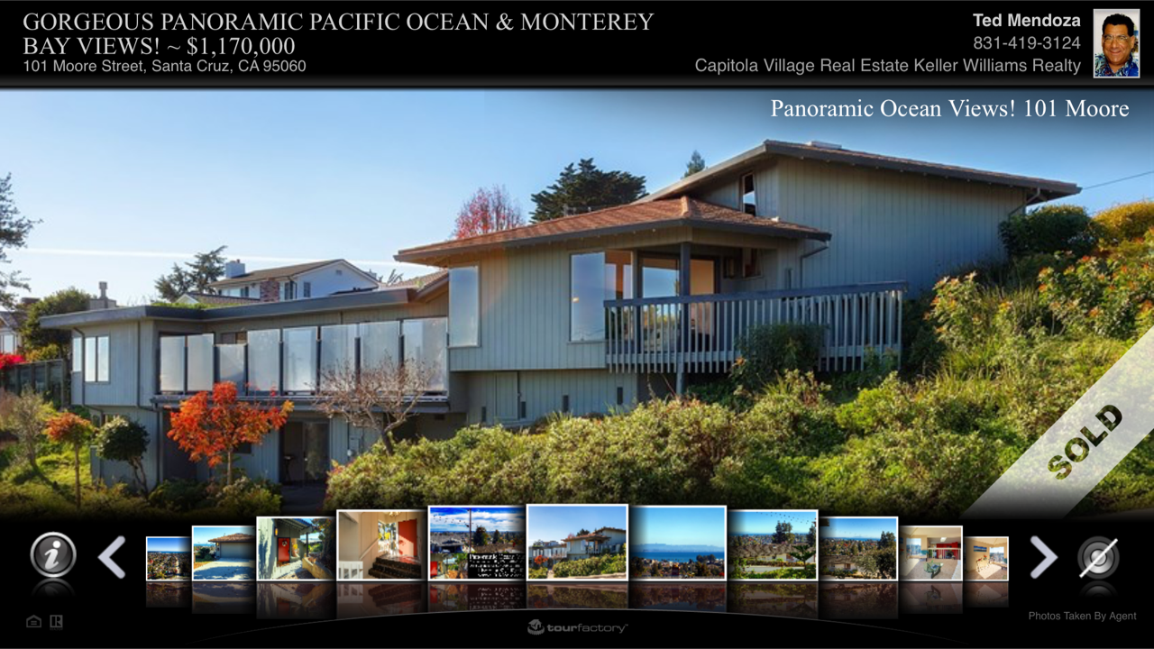 Panoramic Ocean Views, Upper Westside Santa Cruz