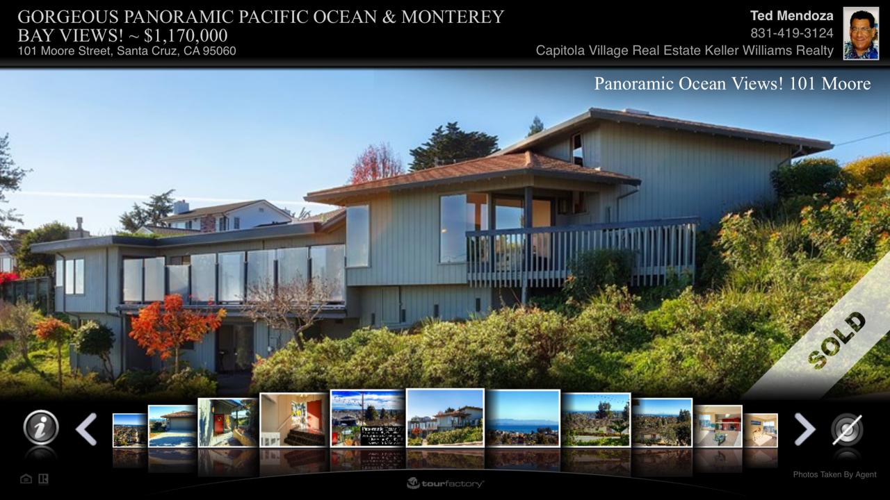 Panoramic Ocean Views, Upper Westside Santa Cruz