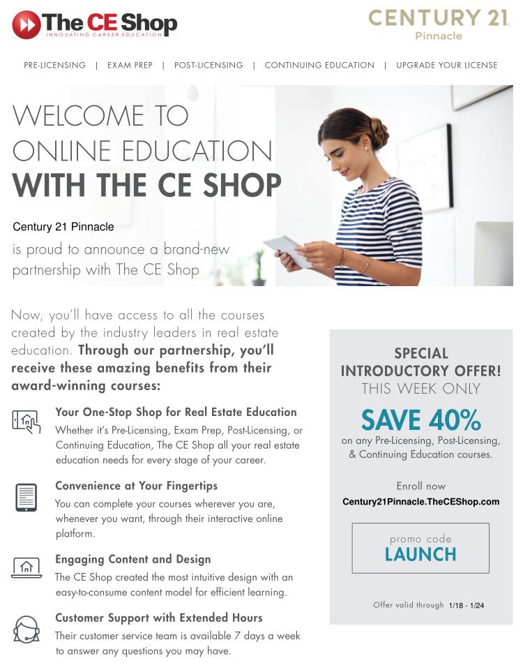 Online Education With The CE Shop